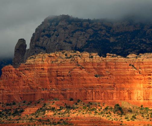 Sedona Red Rocks on a Rainy Day